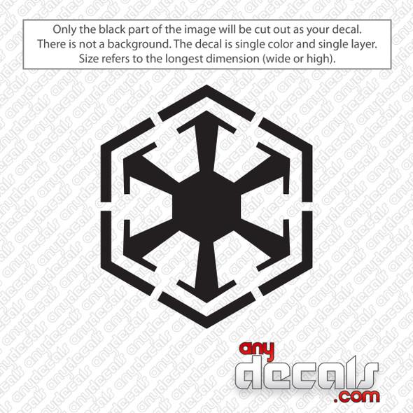 Star Wars Old Empire Symbol Decal Sticker