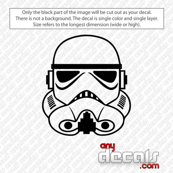 Star Wars Storm Trooper Decal Sticker