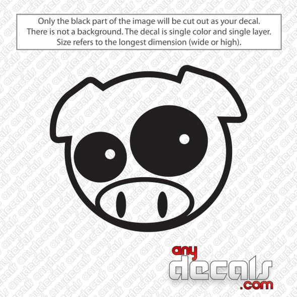 Subaru Rally Pig Decal Sticker