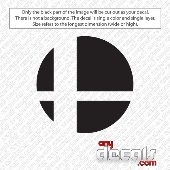 Super Smash Brothers Decal Sticker