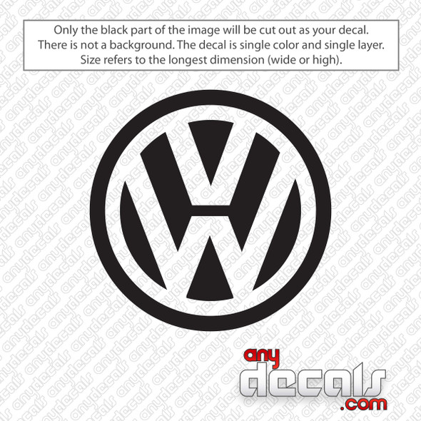 Volkswagen Logo Decal Sticker