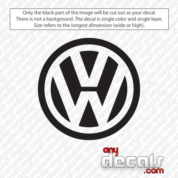 Volkswagen Logo Decal Sticker