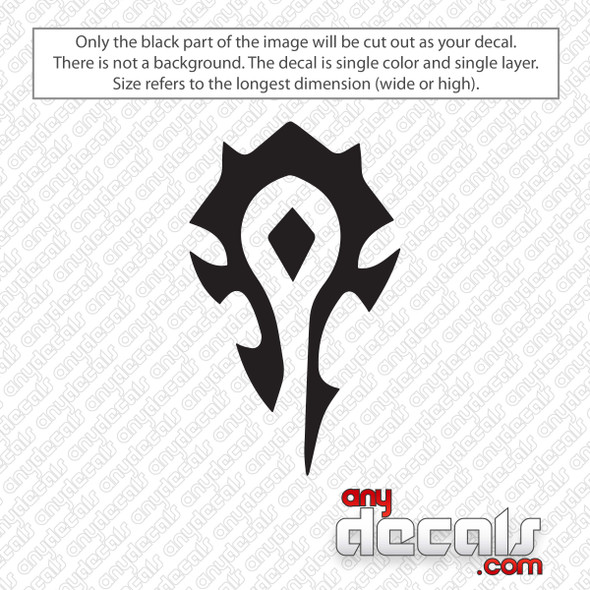 World of Warcraft Horde Decal Sticker