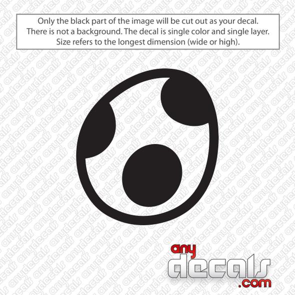 Yoshi Egg Decal Sticker