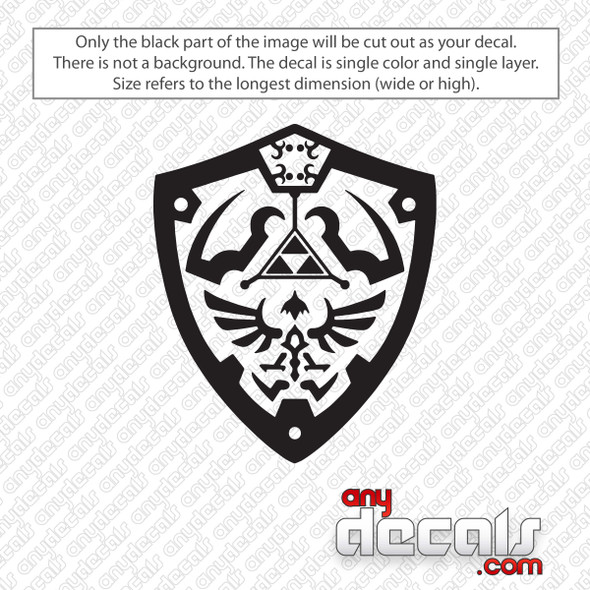 Zelda Shield Decal Sticker