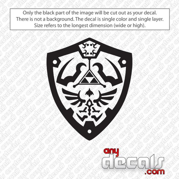 Zelda Shield Decal Sticker
