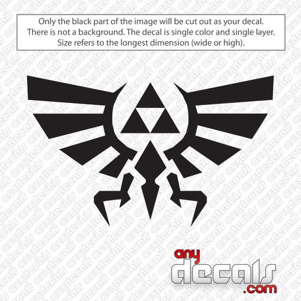 Zelda Triforce Decal Sticker