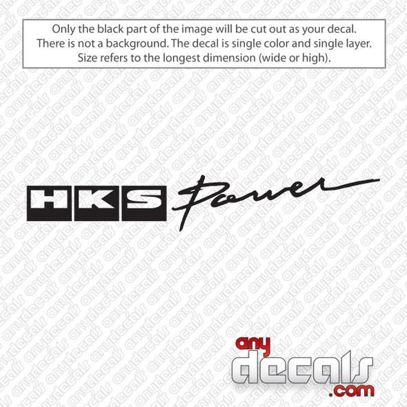 HKS Power Logo Decal Sticker