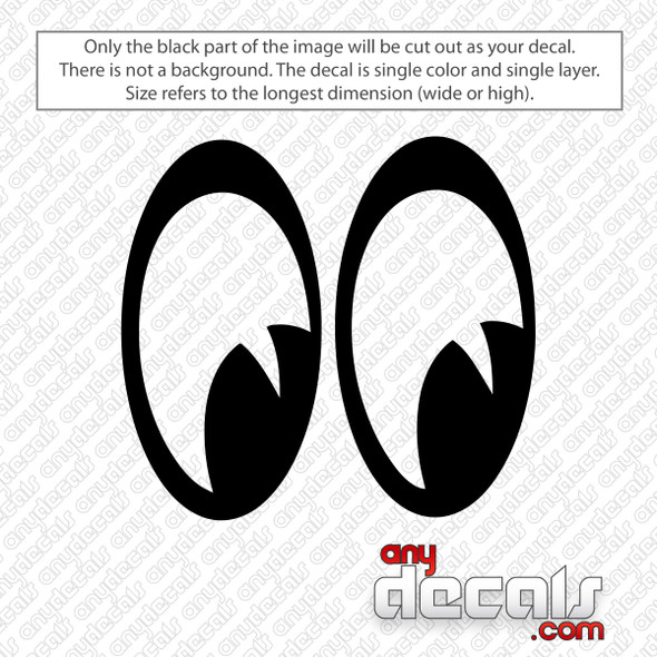 Moon Eyes Decal Sticker