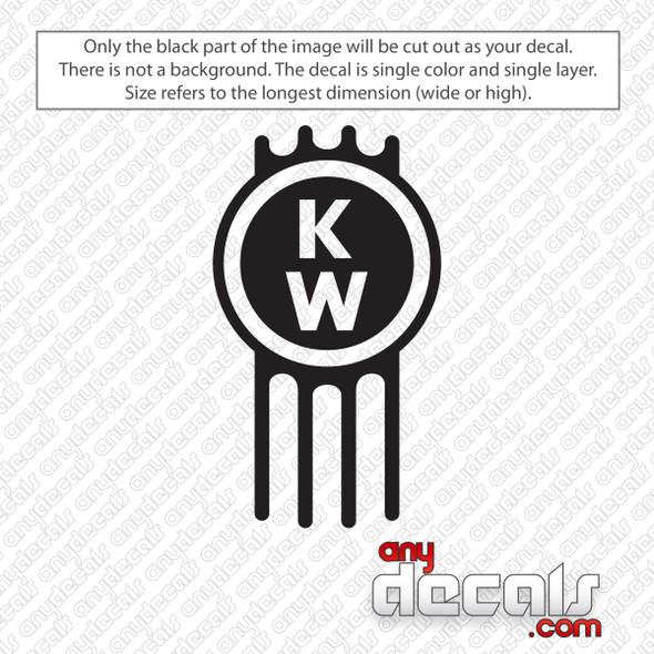 Kenworth Emblem Decal Sticker