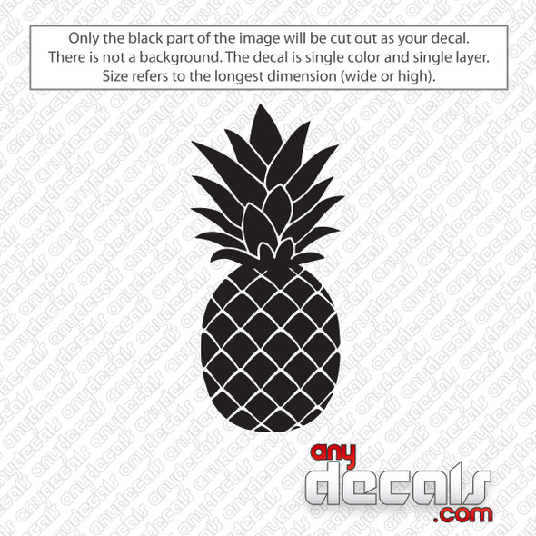 Pineapple Decal Sticker