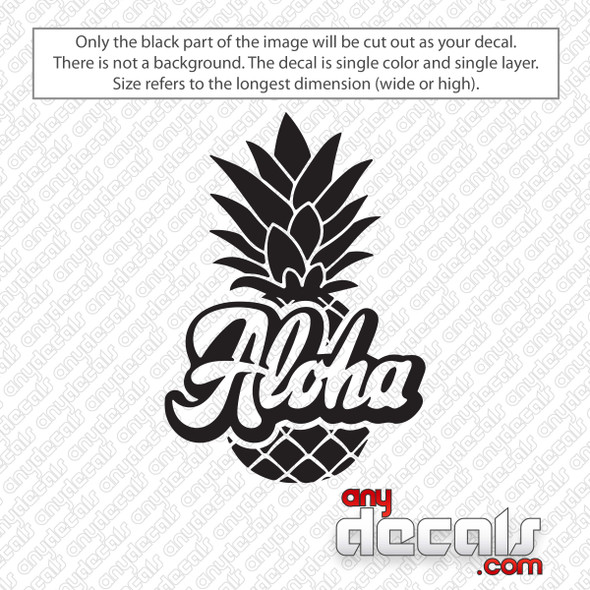Aloha Pineapple Decal Sticker
