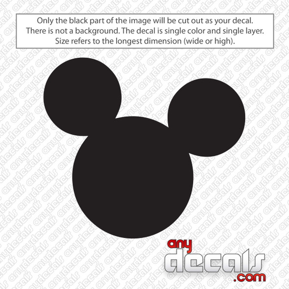 Disney Mickey Mouse Ears Decal Sticker