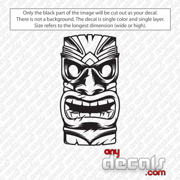 Hawaiian Tiki Mask Decal Sticker