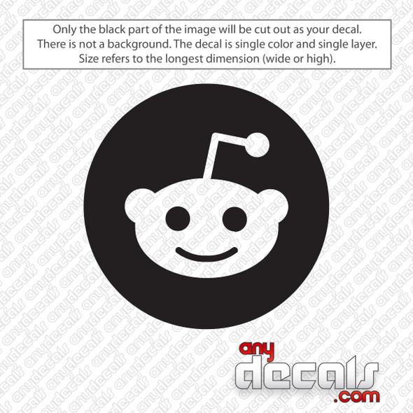 Reddit Circle Logo Decal Sticker