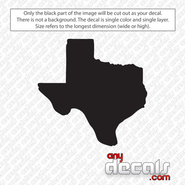 Texas State Decal Sticker