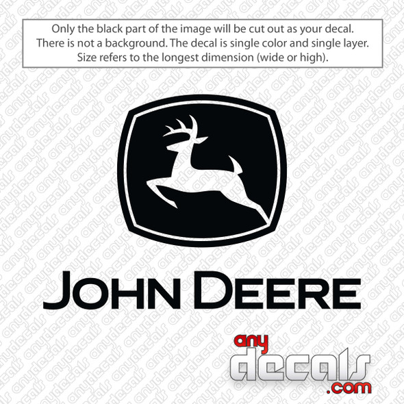 John Deere Logo Decal Sticker