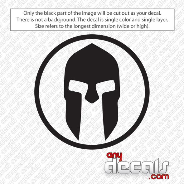 Spartan Helmet Circle Decal Sticker