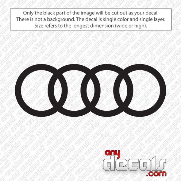 Audi Emblem Decal Sticker
