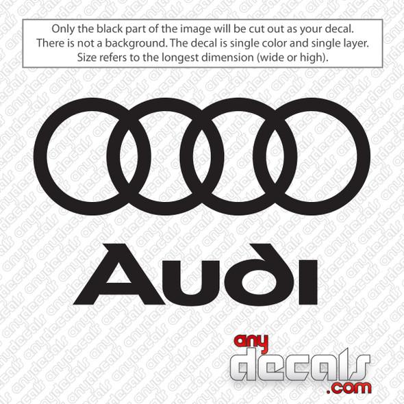 Audi Logo Decal Sticker