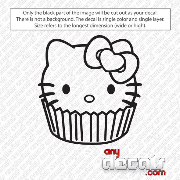 Hello Kitty Cupcake Decal Sticker