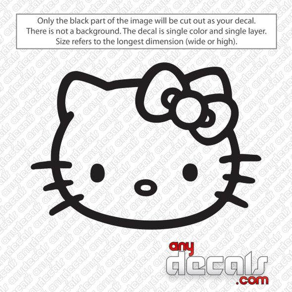 Hello Kitty Face Decal Sticker