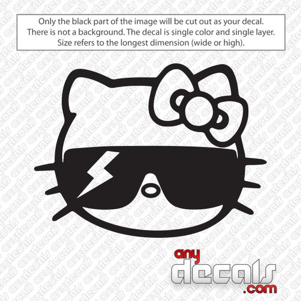 Hello Kitty Lady Gaga Decal Sticker