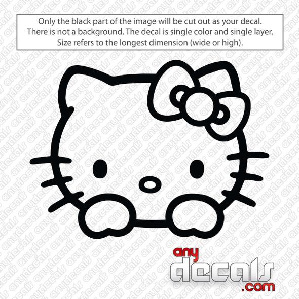 Hello Kitty Peeking Decal Sticker