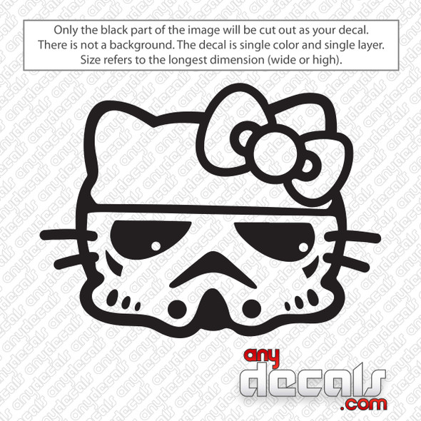 Hello Kitty Storm Trooper Decal Sticker