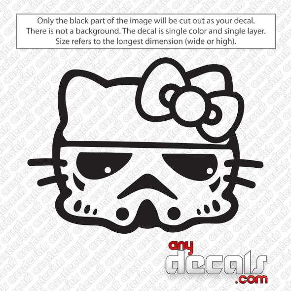Hello Kitty Storm Trooper Decal Sticker