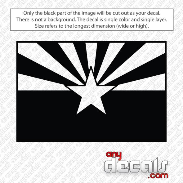 Arizona State Flag Decal Sticker