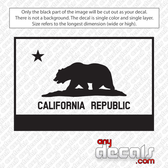 California Republic Flag Decal Sticker