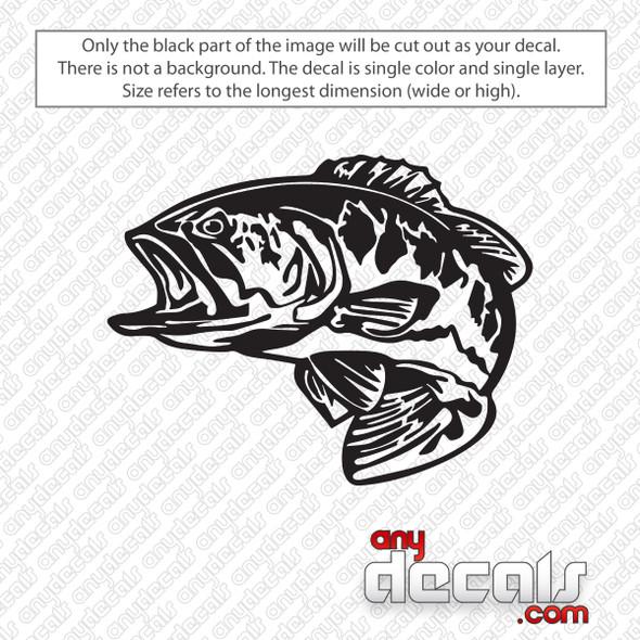 Bass Fish Decal Sticker