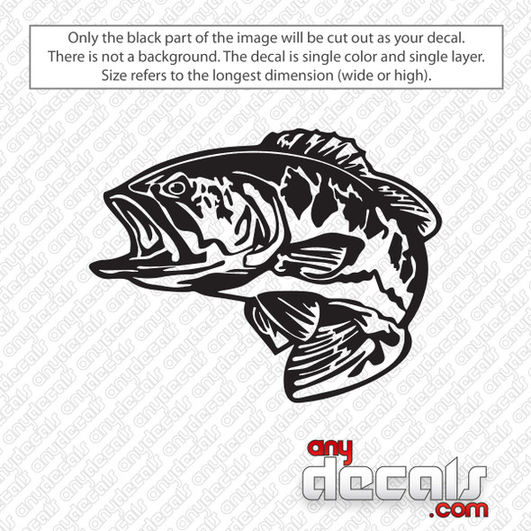 Bass Fish Decal Sticker