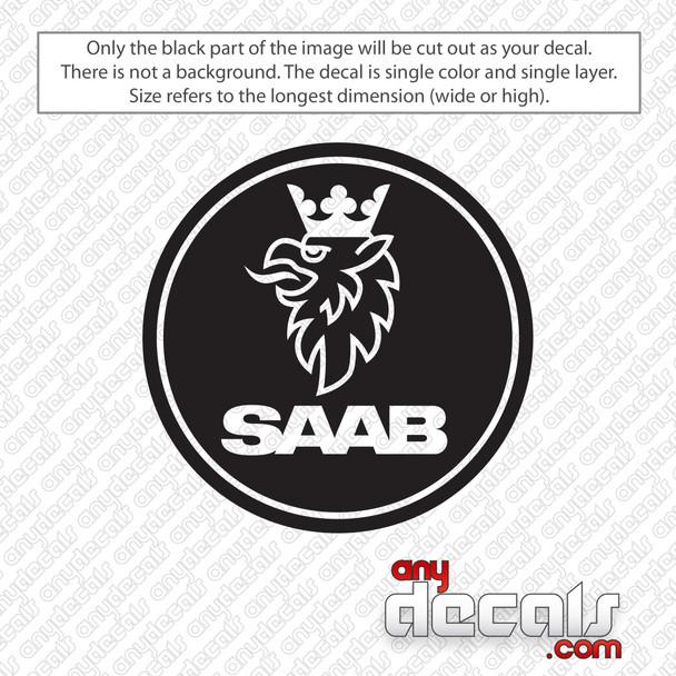 Saab Emblem Decal Sticker
