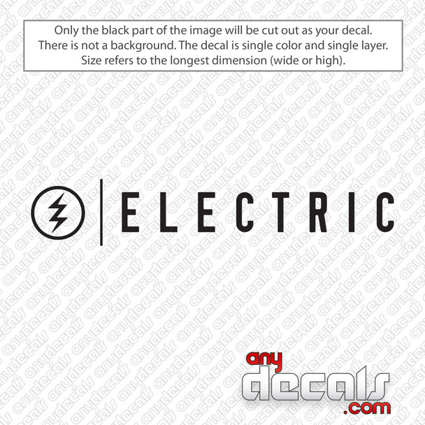 Electric Logo With Text Decal Sticker