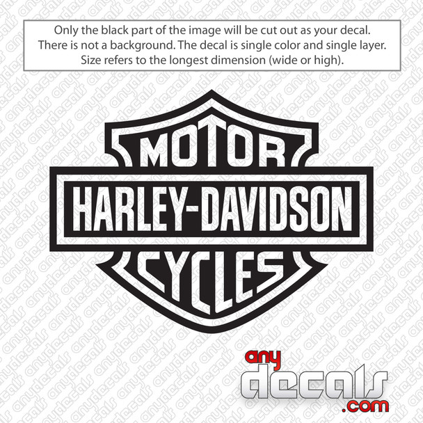Harley Davidson Motorcycles Logo Decal Sticker