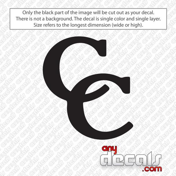 C&C Drums Logo Bass Drum Decal Sticker