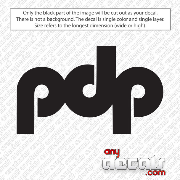 Pacific Drums pdp New Logo Bass Drum Decal Sticker