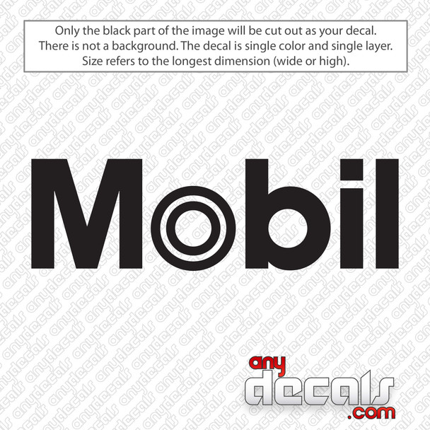 Mobil Gas Logo Decal Sticker