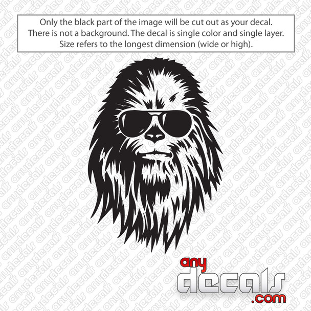 Star Wars Chewbacca With Sunglasses Decal Sticker