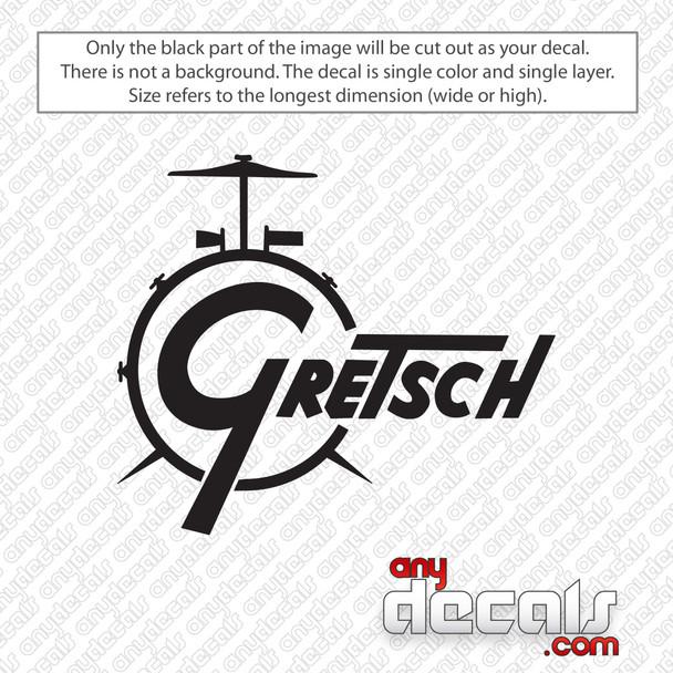 Gretsch Drums Decal Sticker