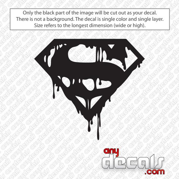 Death Of Superman Decal Sticker