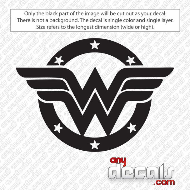Wonder Woman Shield Logo Decal Sticker