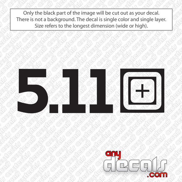 5.11 Tactical Decal Sticker