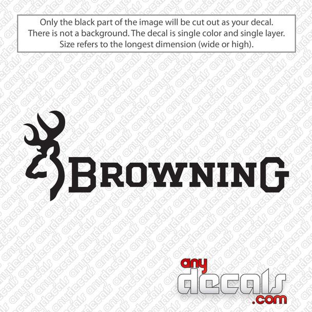 Browning Logo Decal Sticker