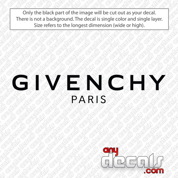 Givenchy Logo Decal Sticker