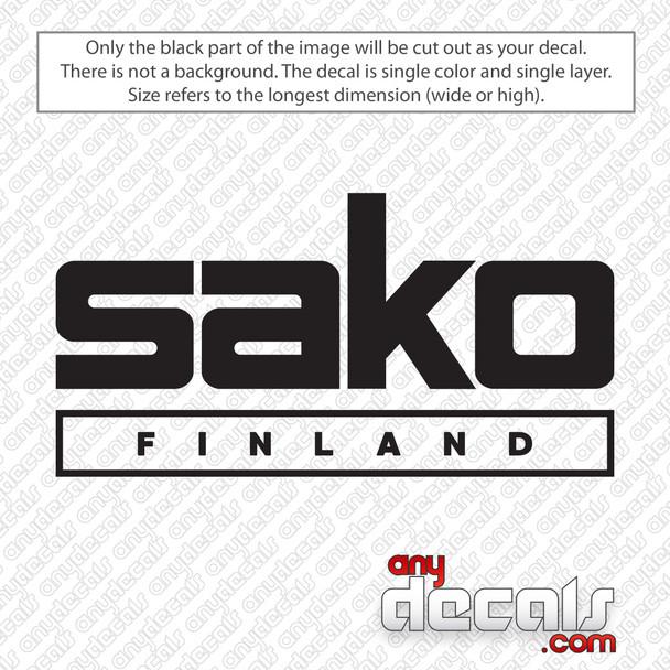Sako Finland Logo Decal Sticker