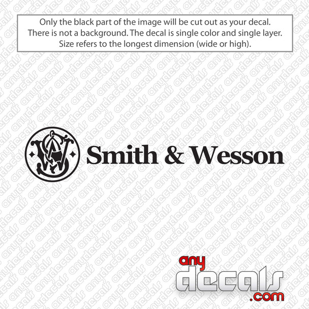 Smith and Wesson Decal Sticker