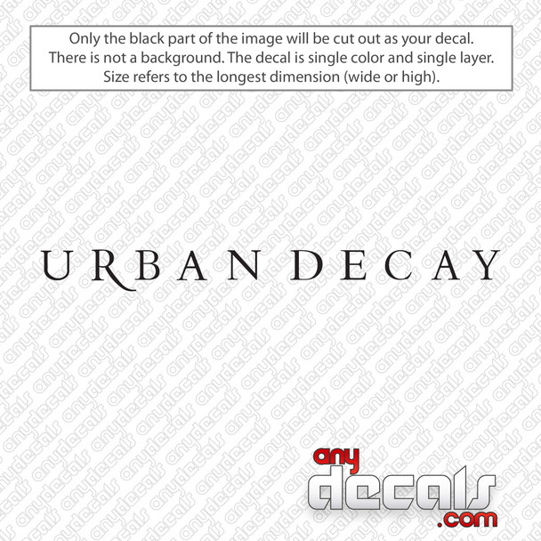Urban Decay Logo Text Decal Sticker